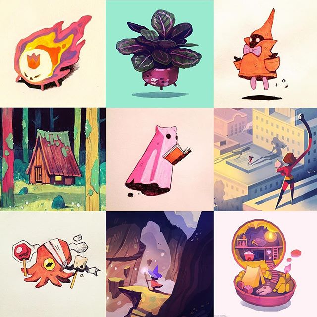 My personal top 9 illustrations from 2018. Thank you to everyone who has liked and followed me this year. It's been an incredible one.  This is mostly from personal art and exhibitions. Some of you may know this already, but I spend most of my days being a game artist. I've been working on a new game the last 12 months and I can hopefully show you guys something next year 😁