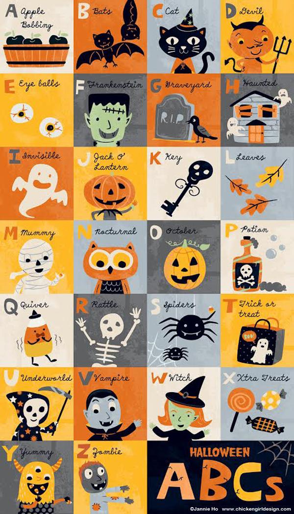 Halloween Abcs For Pottery Barn Kids Chickengirl Design