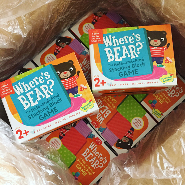 A fun block game I illustrated for Peaceable Kingdom Press-  Where's Bear?