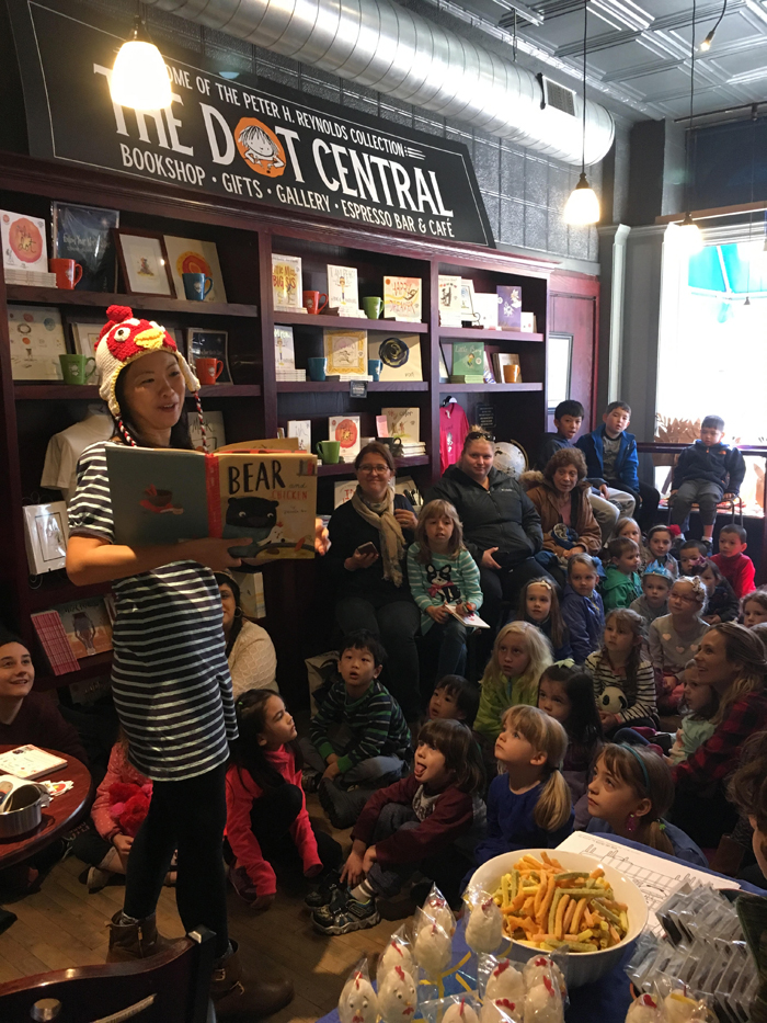 BEAR AND CHICKEN Storytime Book launch party at Blue Bunny Books!