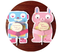 Robot and Bunny Valentines
