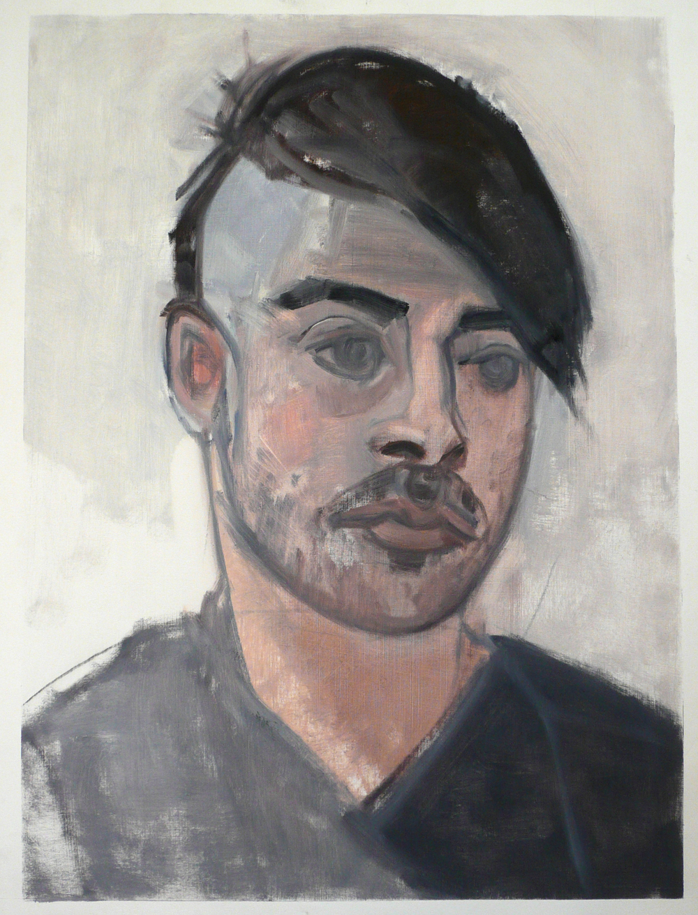 "Portrait of Nic,  22"" x 17"", Oil on paper."
