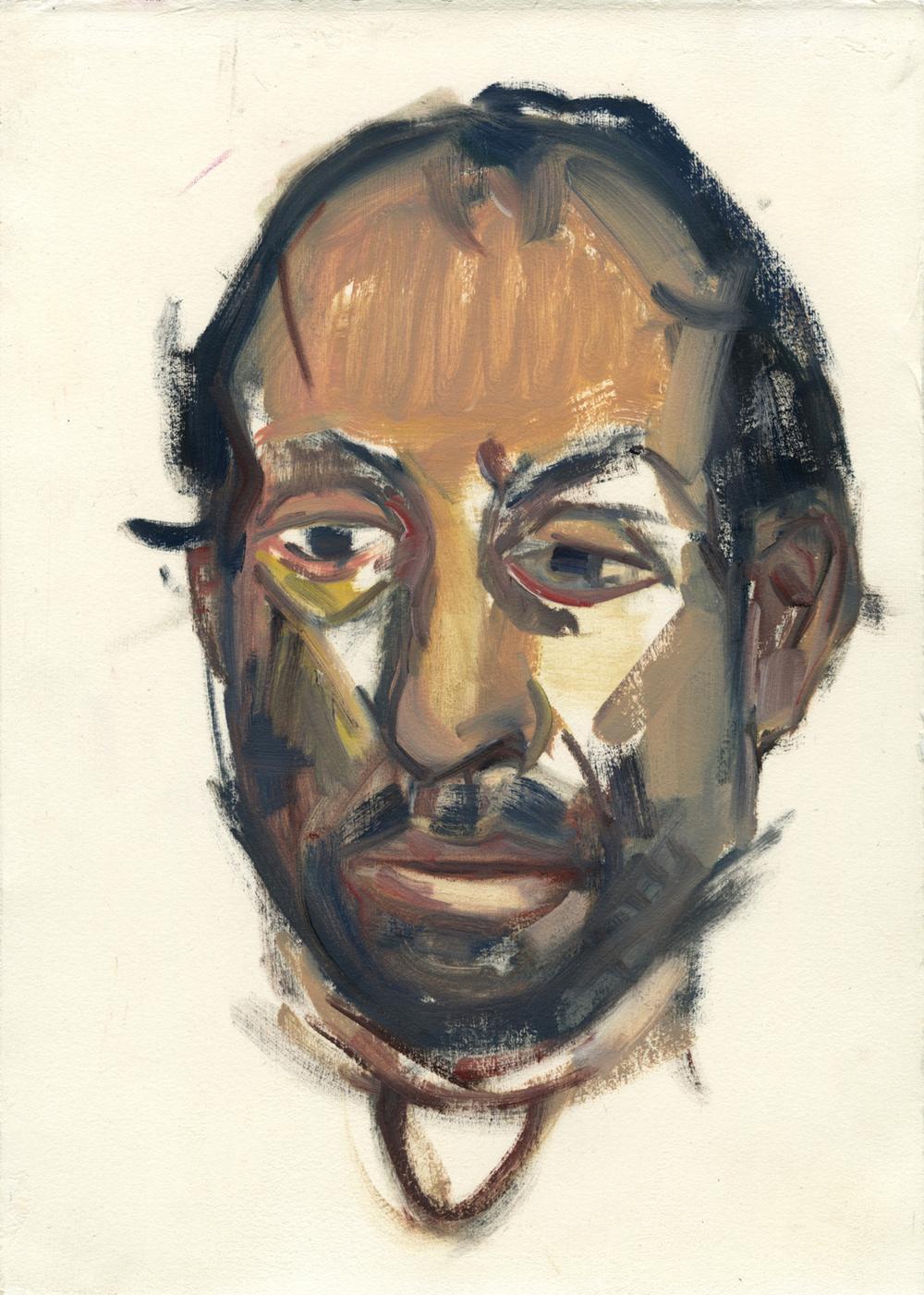 "Daniel , 14"" x 10"", Oil on paper."