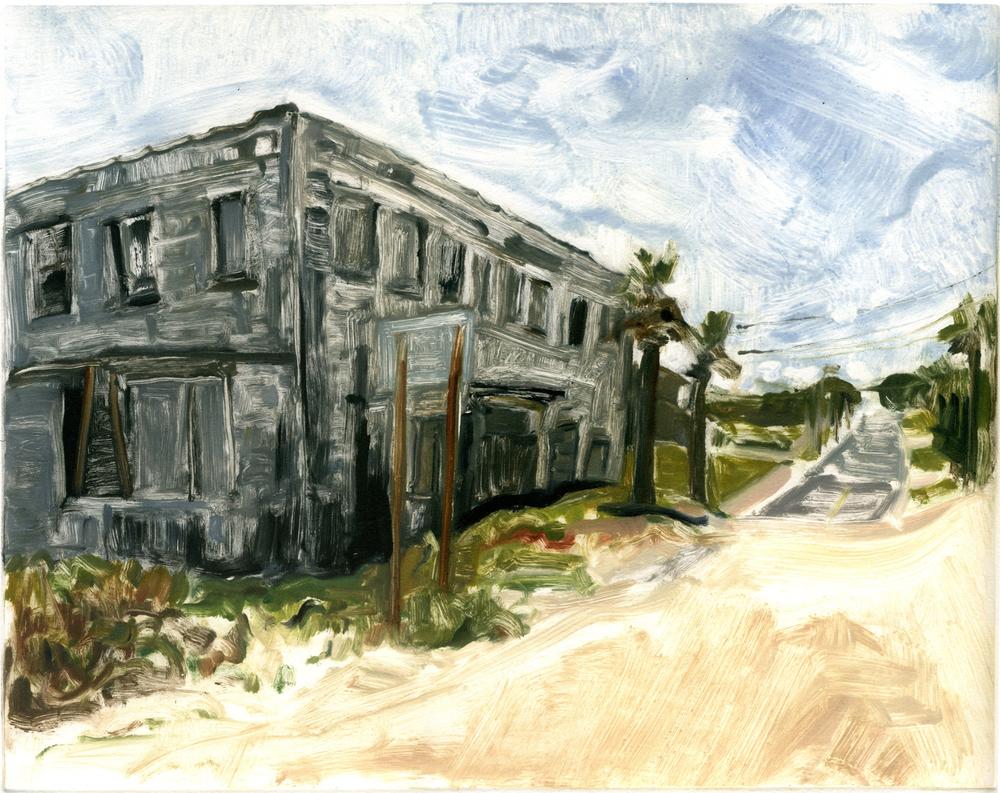 "American Beach (Amelia Island) , 11"" x 14"", Monotype."