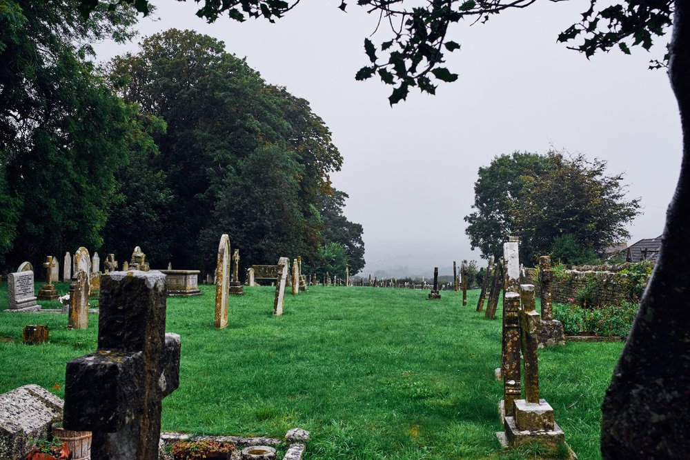 Graveyard in the rain, Langton Matravers - © Andrew Newson