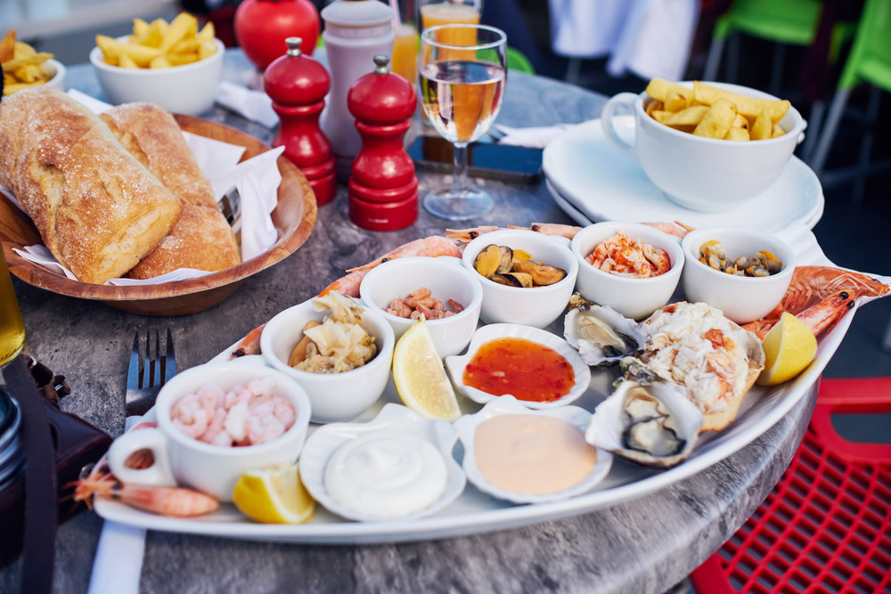 Seafood Platter, Swanage, Dorset - © Andrew Newson