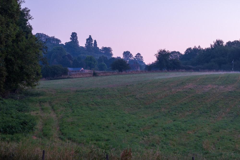 View from landing window up Gudge Meadow