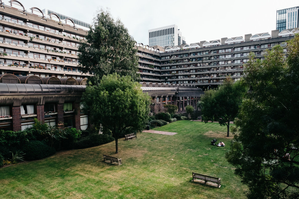 Park within Barbican Centre © Andrew Newson