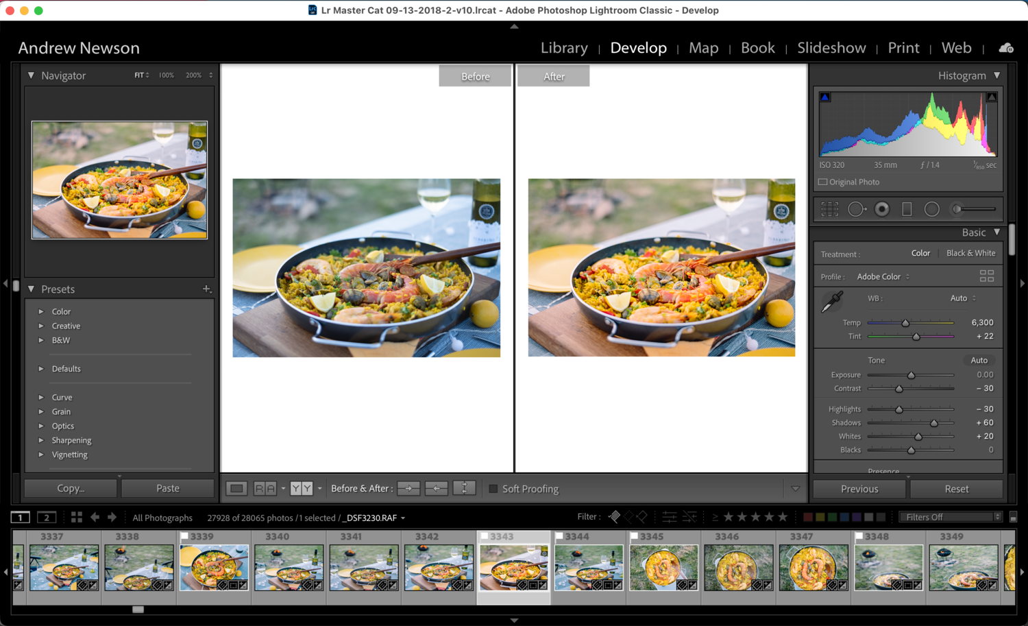 1-2-1 Lightroom Training — Andrew Newson Photography Courses