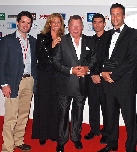 Harry Otto Brünjes with William Shatner at the Marbella Film Festival