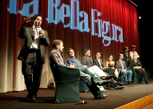 "Writer/Director Harry Otto Brünjes with the cast at the BAFTA Screening of ""La Bella Figura"""