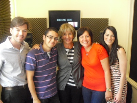 Sue Johnston and Harry Otto Brunjes with the team