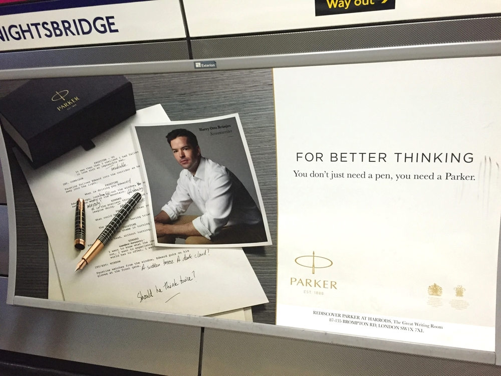 Harry Otto Brünjes Parker Pen, Knightsbridge station