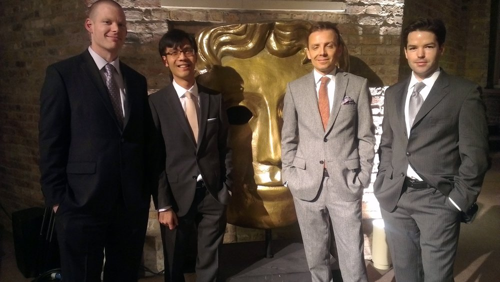 Mark Gill, Baldwin Li, Harry Otto Brunjes BAFTA.jpg