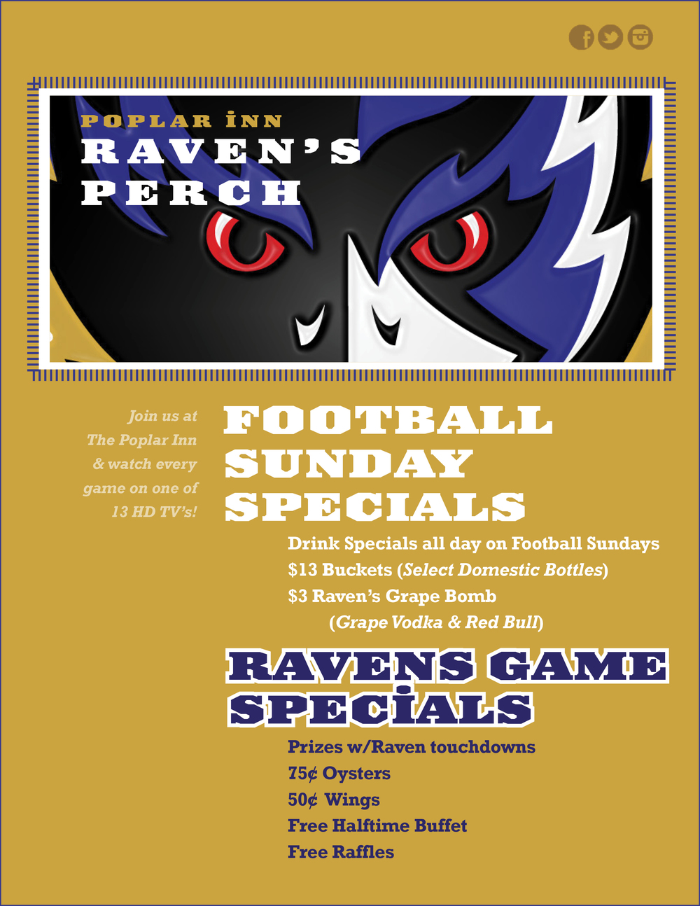 Gameday Specials!