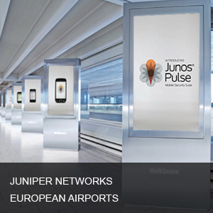 Juniper Network- Airport digital signage