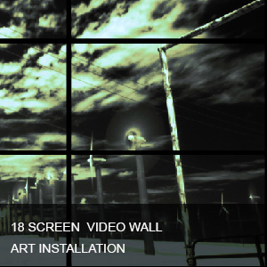 18 SCREEN VIDEO WALL