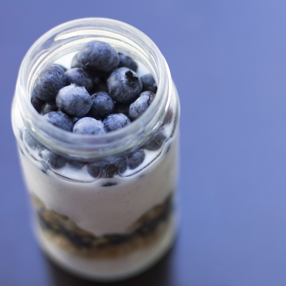 Blueberry and Walnut Parfait