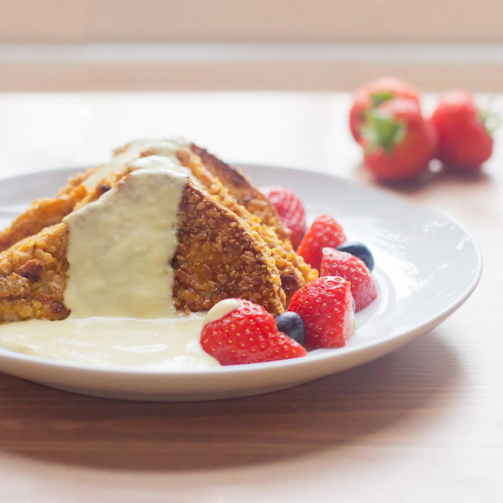 Crunchy Vanilla French Toast With Cr�me Anglaise (inspired By Blu Jam Cafe)  €� Feeding My Boyfriend