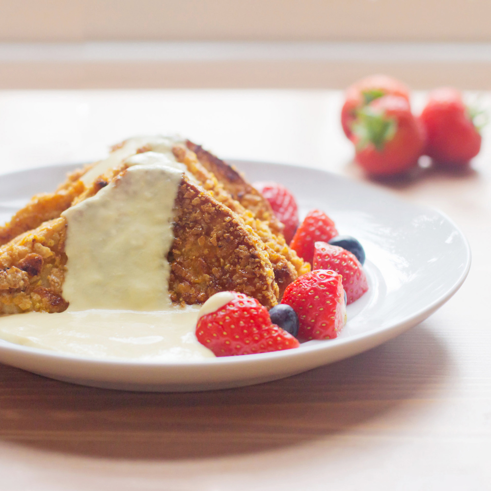 Crunchy French Toast with Crème Anglaise