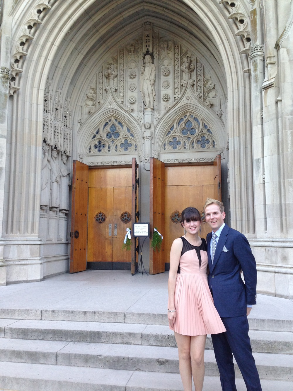 Celebrating Ben & Ran at the gorgeous Duke Chapel in Durham, NC, September 2013
