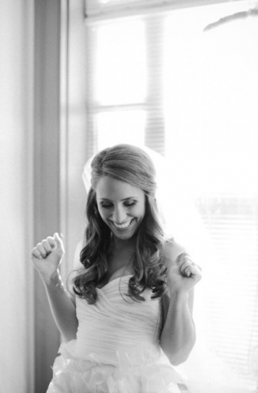 That's giddy, bridal perfection right there!