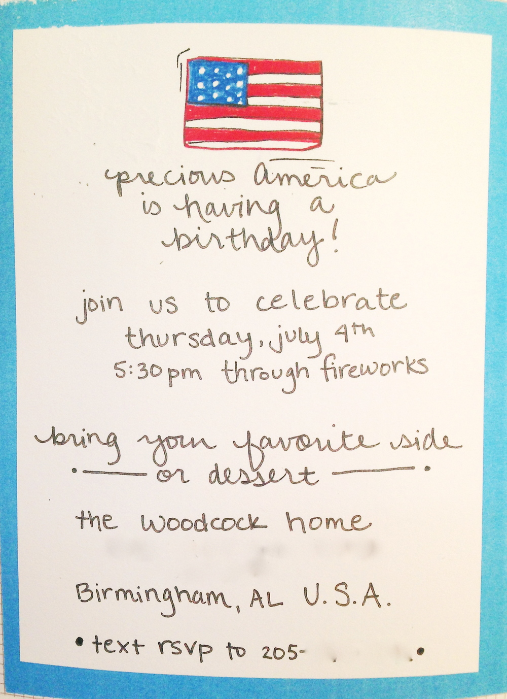 Fourth of July invitation_the lovingkind