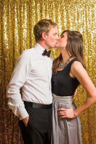 We couldn't wait until midnight for a kiss!