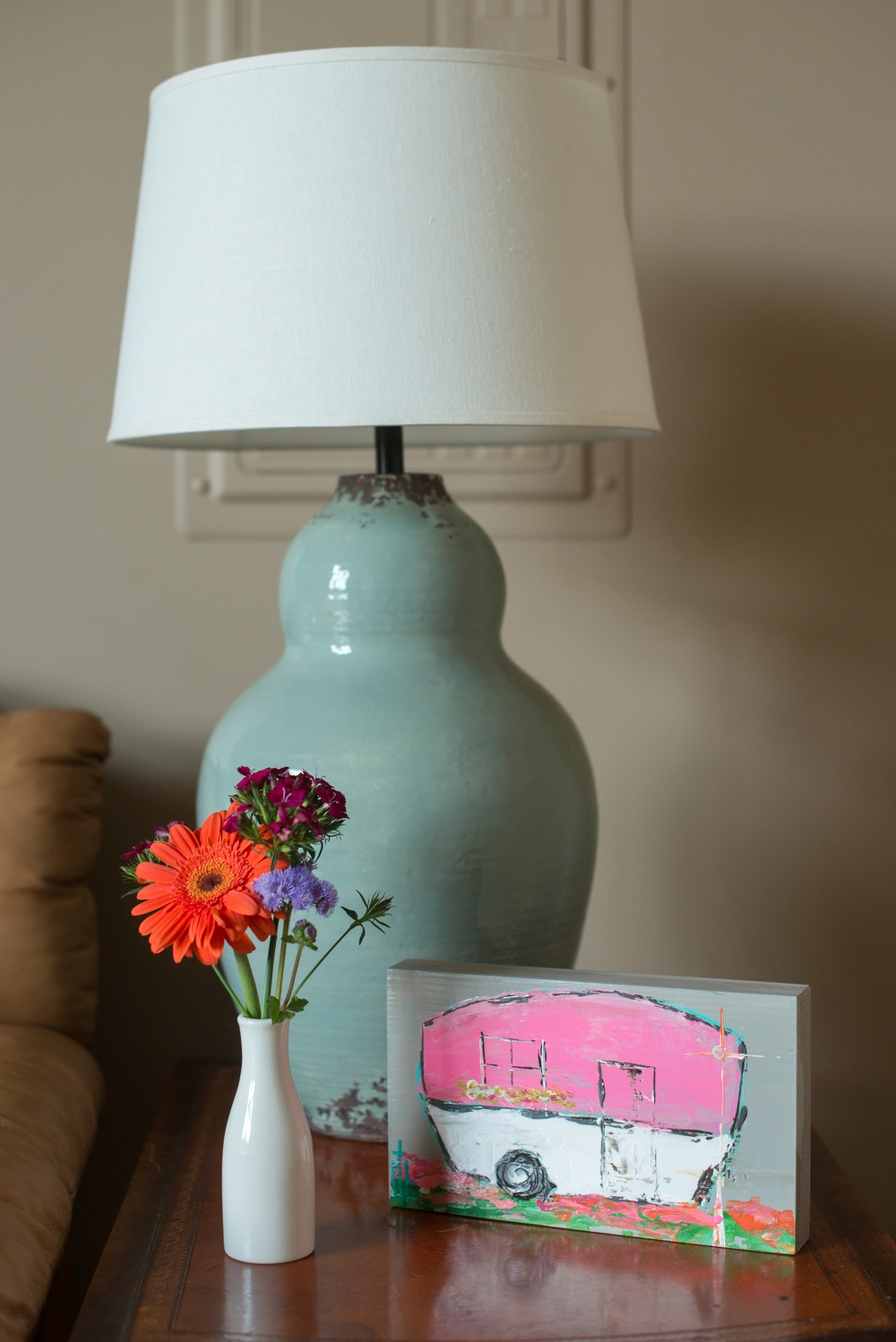 Lamp from Pottery Barn (this came straight off our wedding registry and we love it!)