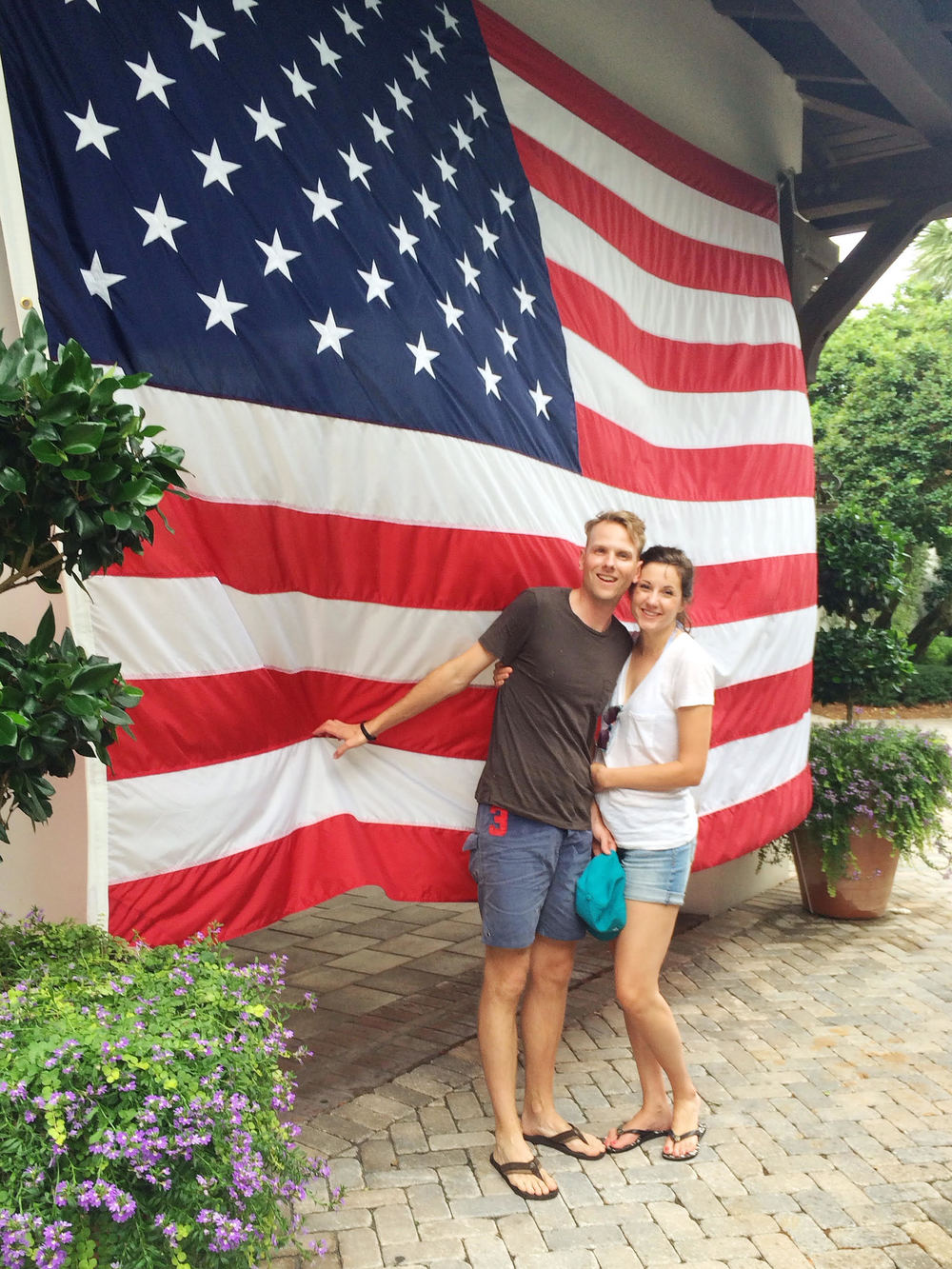 Happy Independence Day! Love this festive flag at the  Sea Island  Beach Club.
