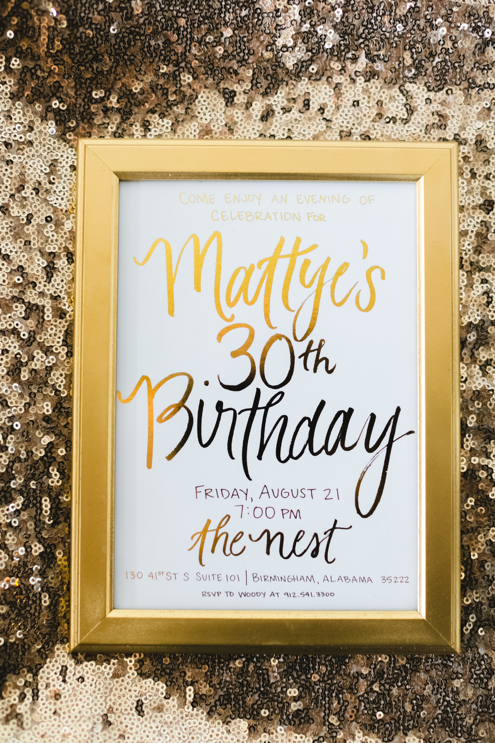 My friend and amazing stationer, Jessica of  Empress Stationery , worked with me to turn my hand lettering into this beautiful gold foil invitation!