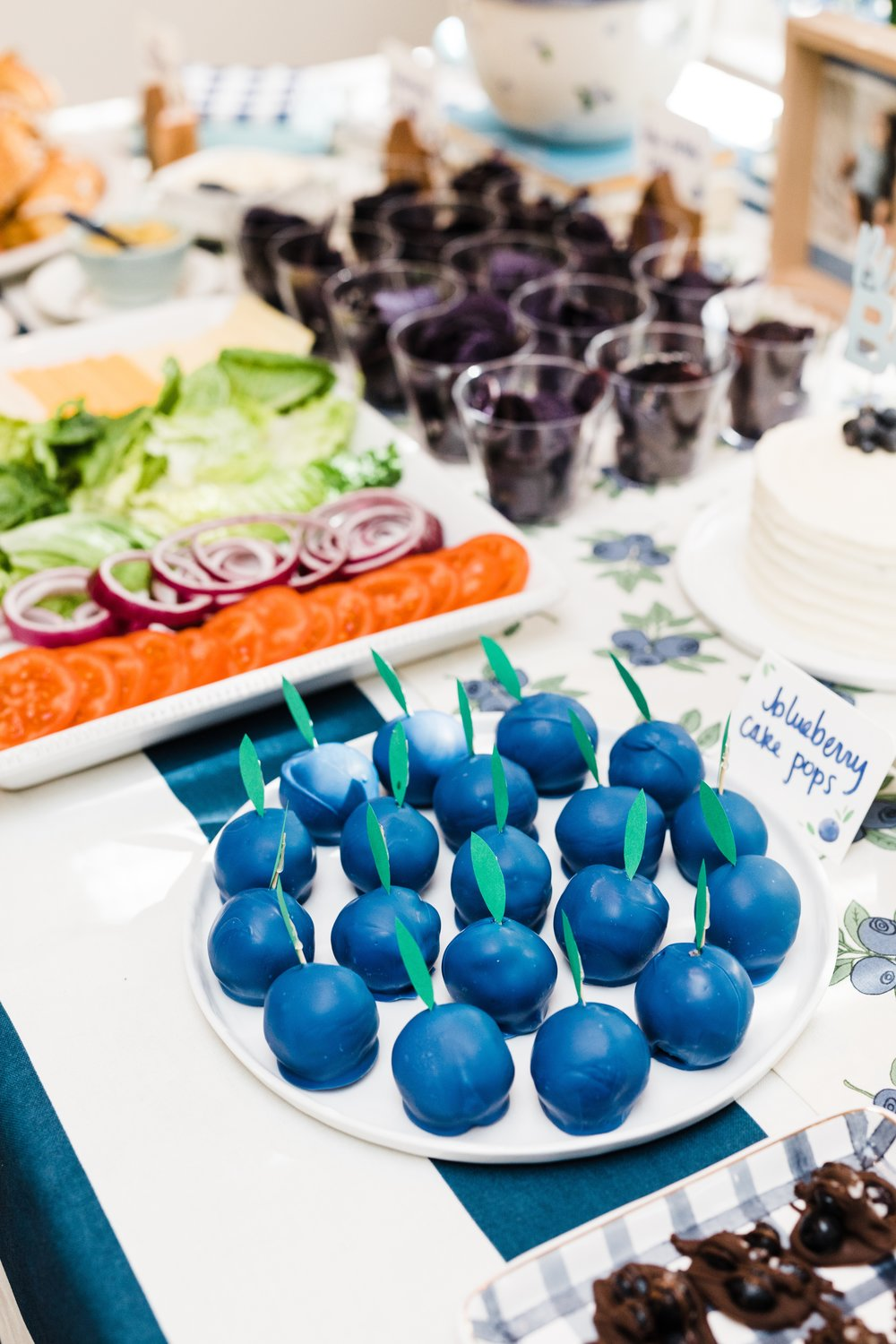 blueberry cake pops first birthday party