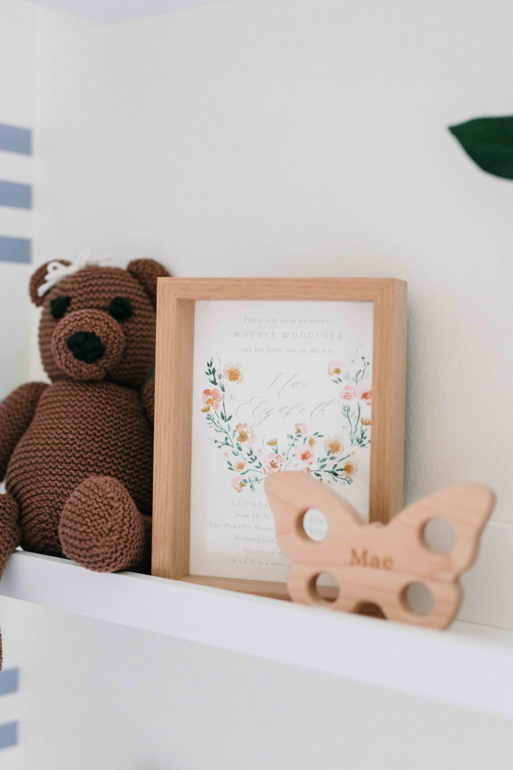 feminine nursery shelves