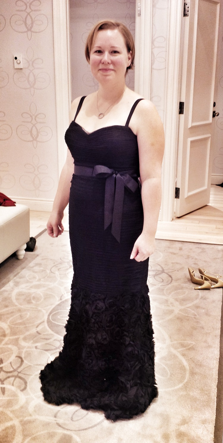 Christmas dress edmonton - Camille Also Looked Amazing In This Spectacular Beaded Gown Navy Blue With Nods To The Great Gatsby This Dress Was A Close Runner Up And We Re Pretty