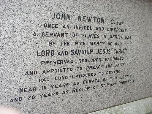 John Newton's tombstone