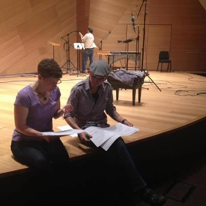 with Edward Hamel, at UCSD for soundSCAPE concert & workshop