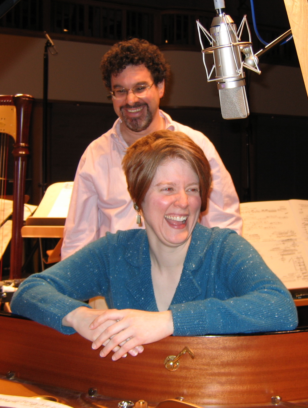 with Adam Abeshouse, recording  Ancient Voices of Children