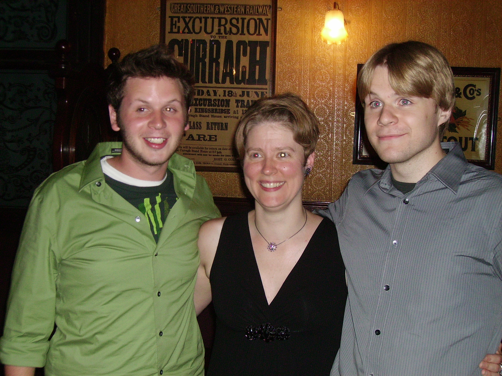 With composer Kurt Isaacson and percussionist Dustin Donohue, soundSCAPE, 2009