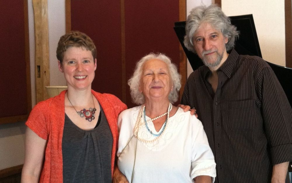 TA, Bethany Beardslee & Alan Feinberg, recording the music of Godfrey Winham. June 2012