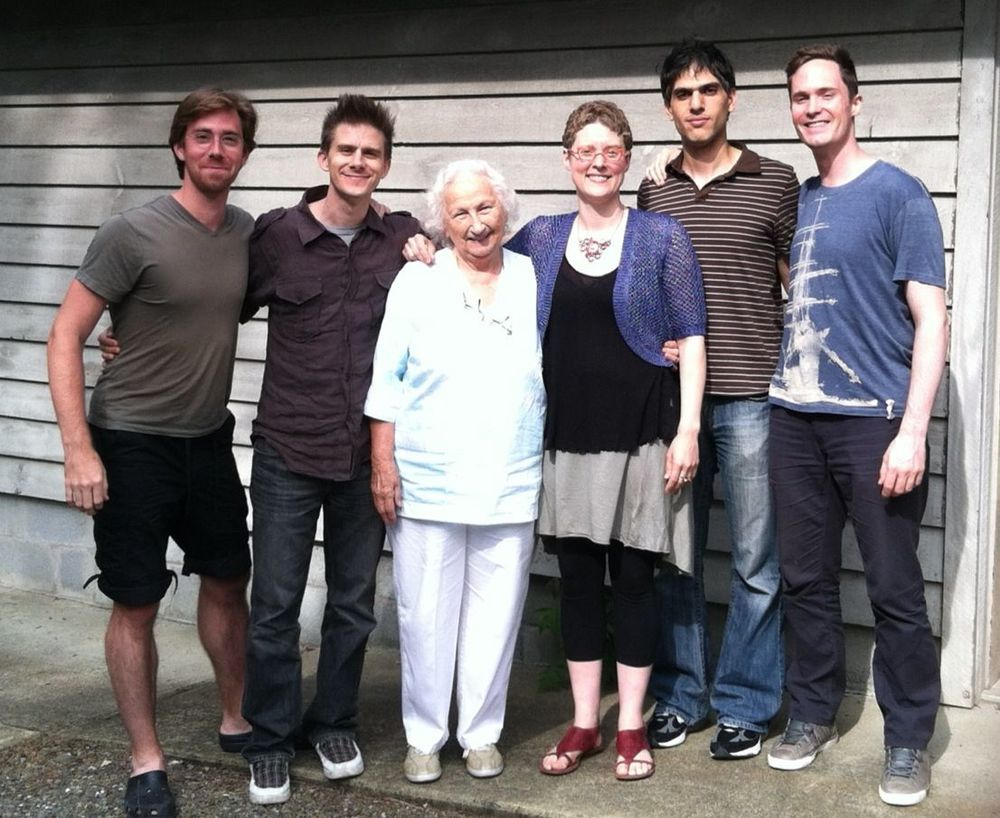 David Fulmer, Chris Gross, Bethany Beardslee, TA, Cyrus Beroukhim, and Kyle Armbrust. Redhook NY, June 2012