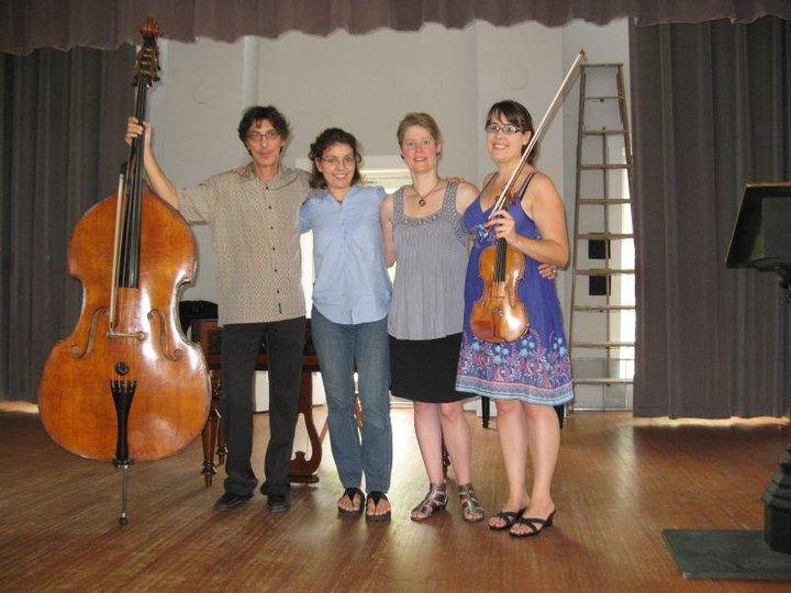 Robert Black, Petra Berenyi, TA, Gabriela Diaz at Monadnock 2011
