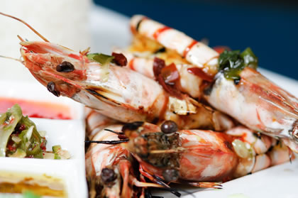 Sensational Chargrilled Bali prawns