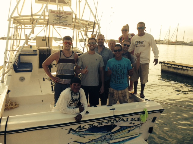 Bryan Wachendorf wedding party with half of group on MoonWalker released 5 Sailfish and 1 Mahi Mahi