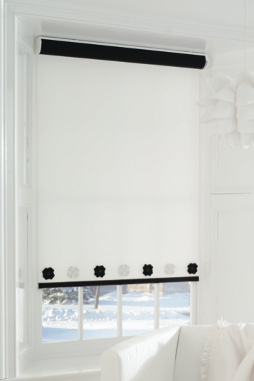 How to take a plain roller blind and transform it into something beautiful!