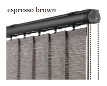 Vogue Slimline Track - Espresso Brown