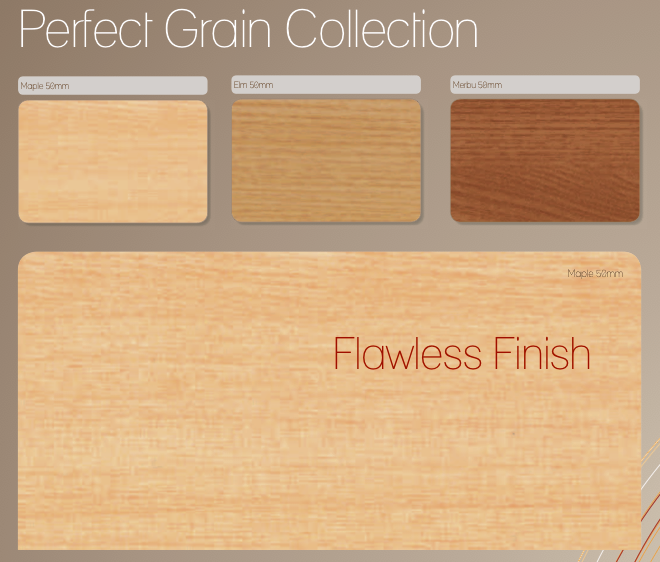 Perfect Grain woods - 50mm slat size only