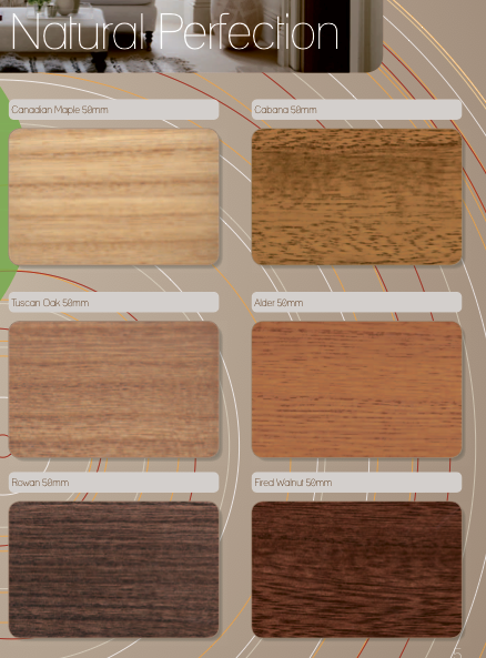 Soft Grain Wood Options - all 50mm Slat Size only