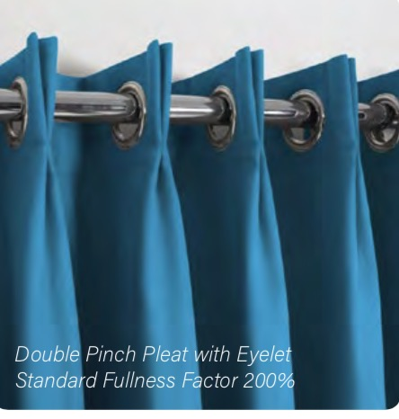 Double Pinch Pleat with Eyelet