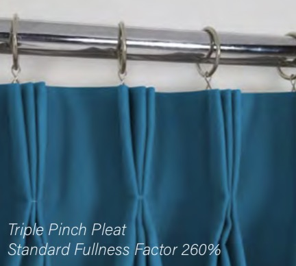 Triple Pinch Pleat