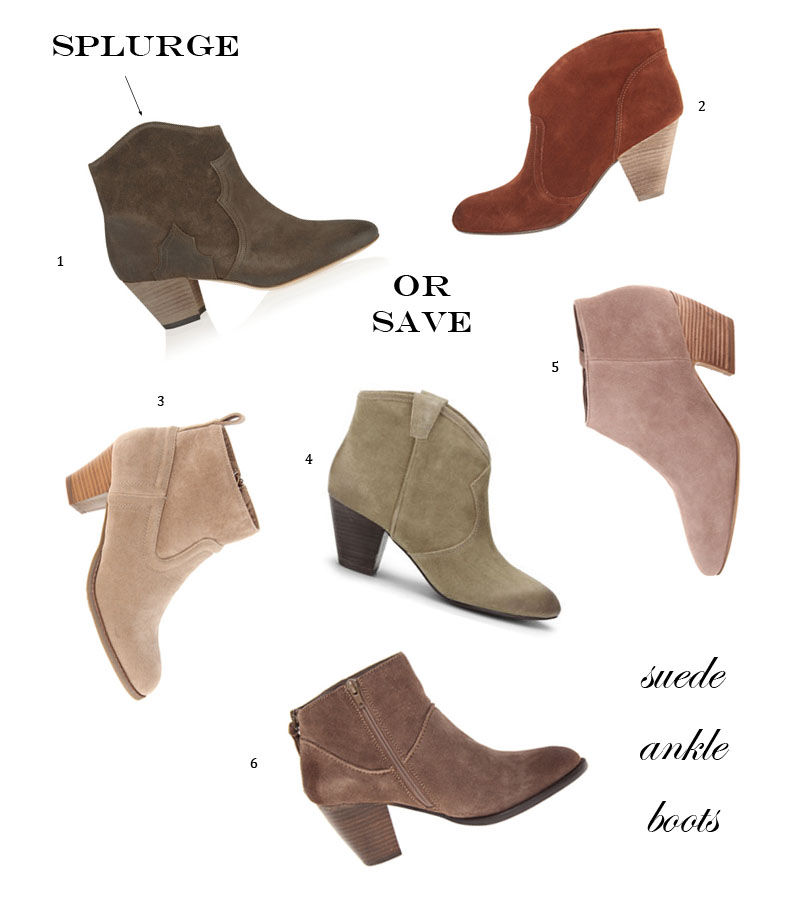 Splurge vs. Save | Suede Ankle Boots (Isabel-Marant-Dicker ...